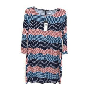 NEW BCBGmaxazria shift digital wave dress BEK